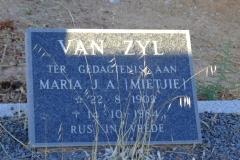 Van Zyl, Maria J.A. (Mietjie)