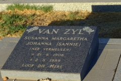 Van Zyl, Susanna Maragetha Johanna (Sannie) nee Vermuelen