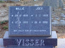 Visser, Willie + Visser, Joey