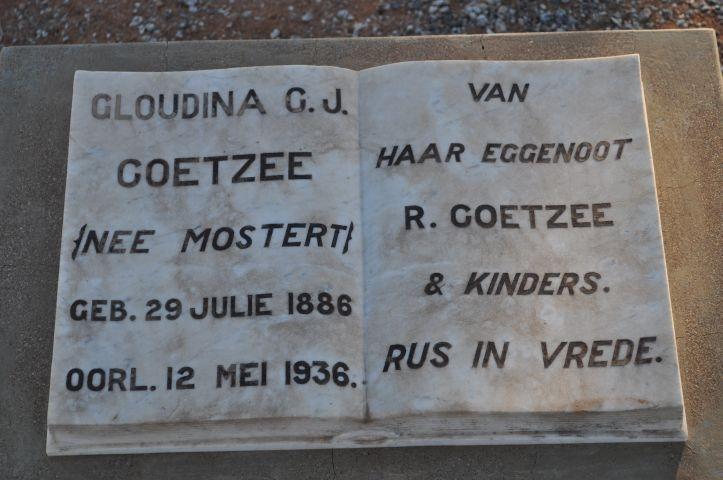 Coetzee, Gloudina nee Mostert