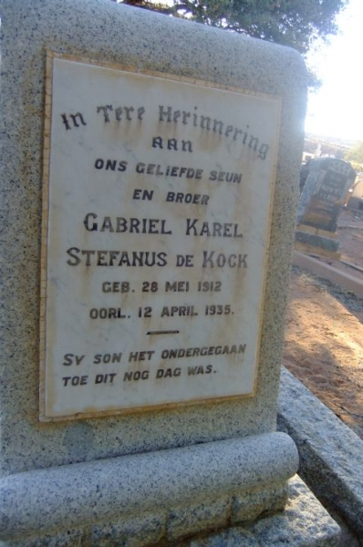 De Kock, Gabriel Stefanus