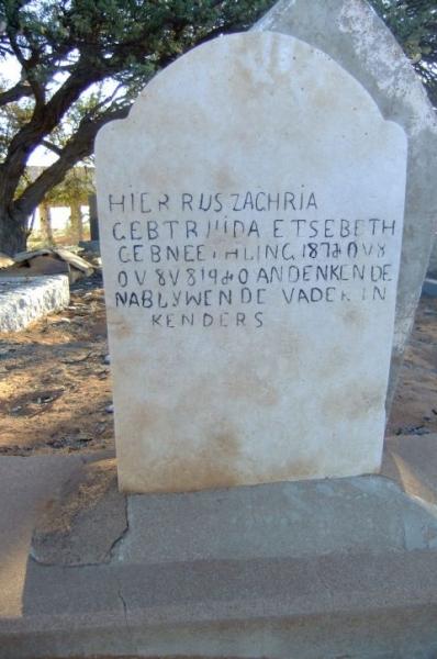 Etsebeth, Zacharia Gebtruida