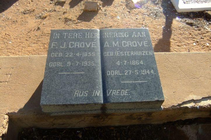 Grove, FJ + AM gebore Esterhuizen