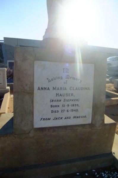 Hauser, Anna Maria Claudina nee Siepker