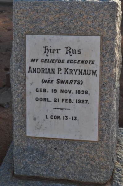 Krynauw, Andrian P nee Swarts