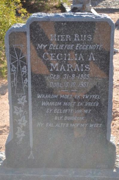 Marais, Cecilia A