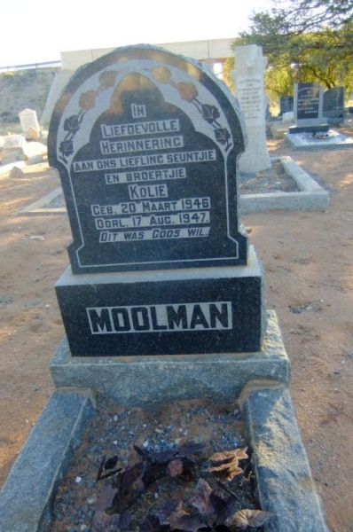 Moolman, Kolie