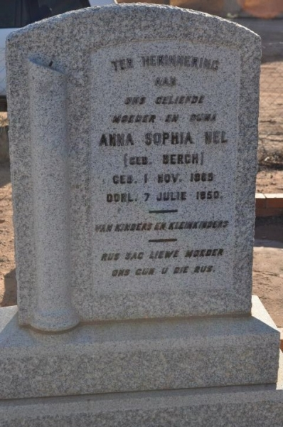 Nel, Anna Sophia gebore Bergh