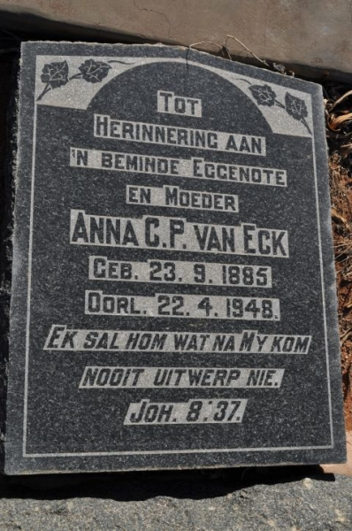 Van Eck, Anna CP