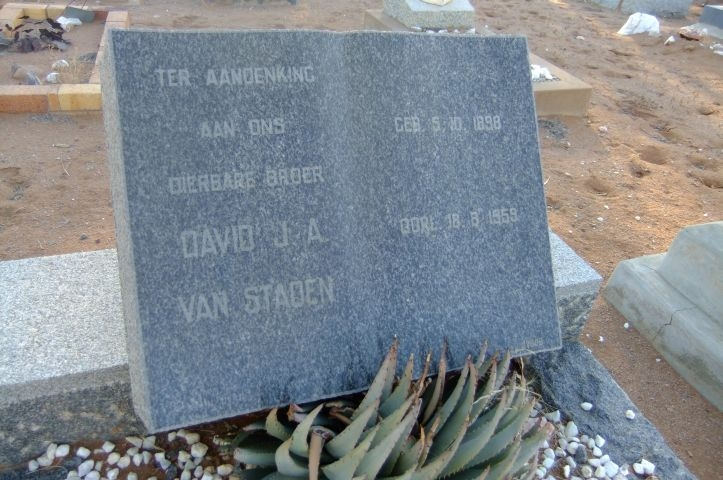Van Staden, David J.A.
