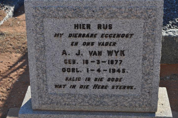 Van Wyk, AJ