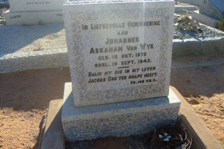 Van Wyk, Johannes Abraham