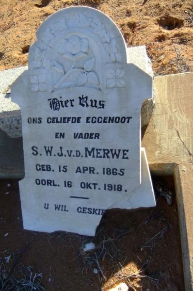 Van der Merwe, S.W.J.