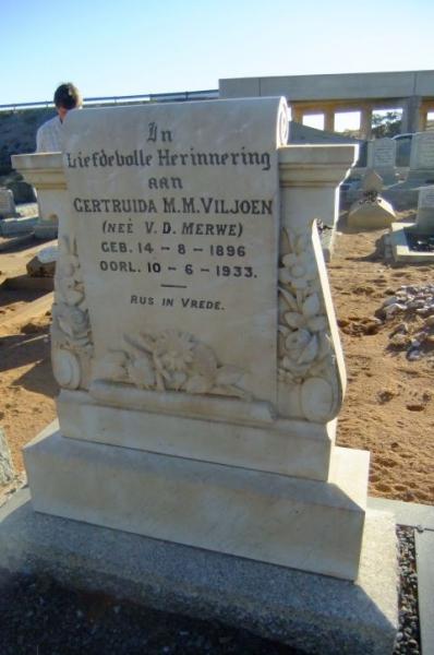 Viljoen, Gertruida M.M. gebore Van der Merwe