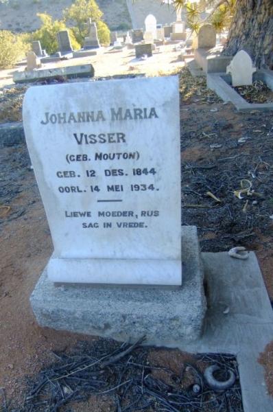 Visser, Johanna Maria gebore Mouton