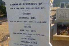 Biel, Coneraad Gerhardus + Johanna + Martha + Johanna Kuhn