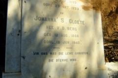 Cloete, Johanna S. nee Van der Berg