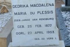 Du Plessis, Dedrika Magdalena Maria nee Janse Van Rensburg