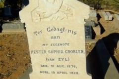 Grobler, Hester Sophia nee Van Zyl