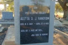 Hanekom, Aletta SJ