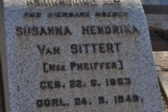 Van Sittert, Susanna Hendrika nee Pheiffer