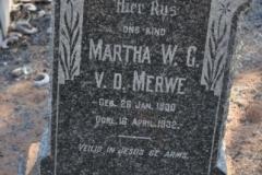 Van der Merwe, Martha