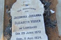 Visser, Jacomina Johanna Elizabeth nee Lombard
