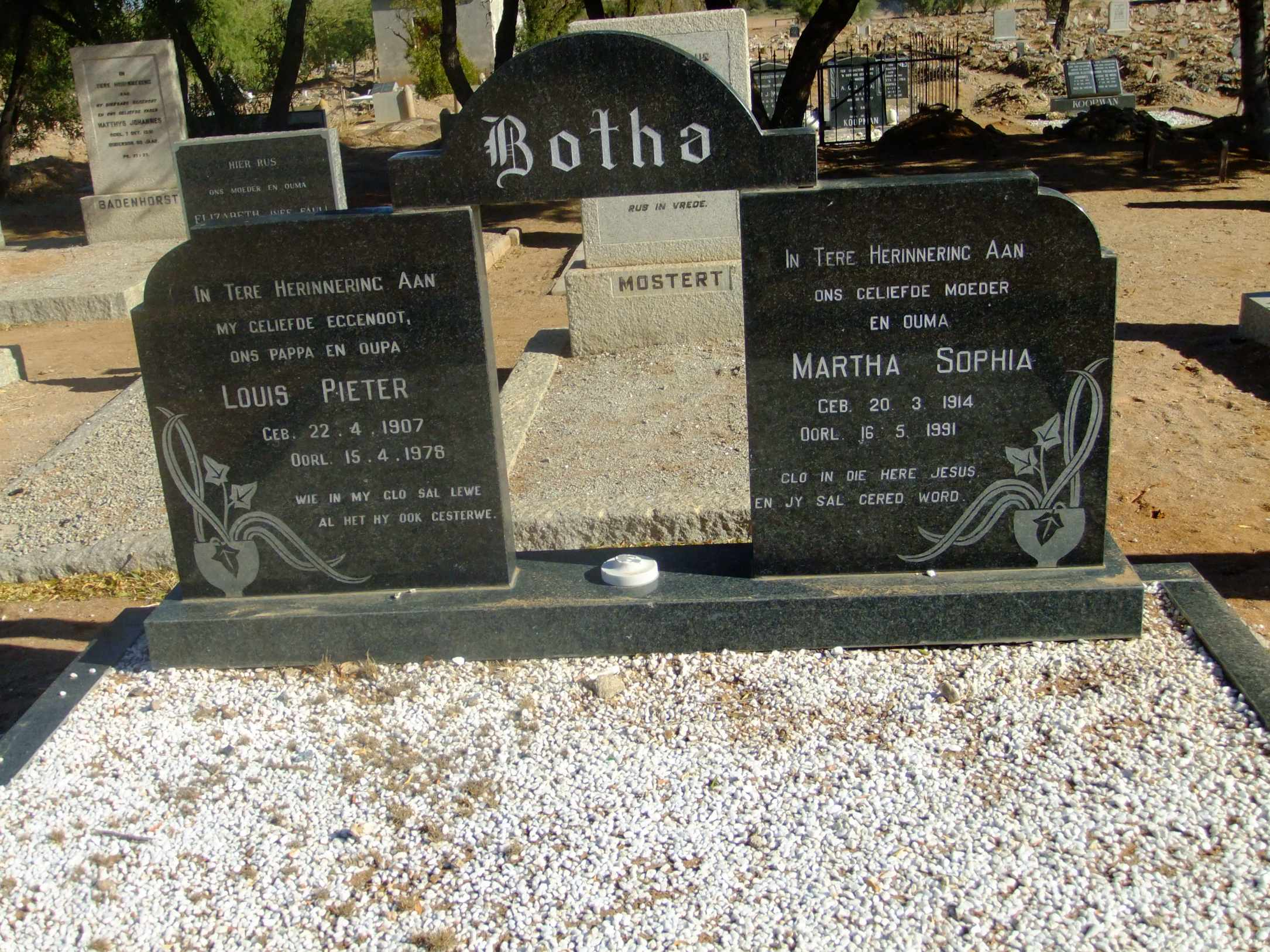 Botha, Louis Peter and Martha Sophia