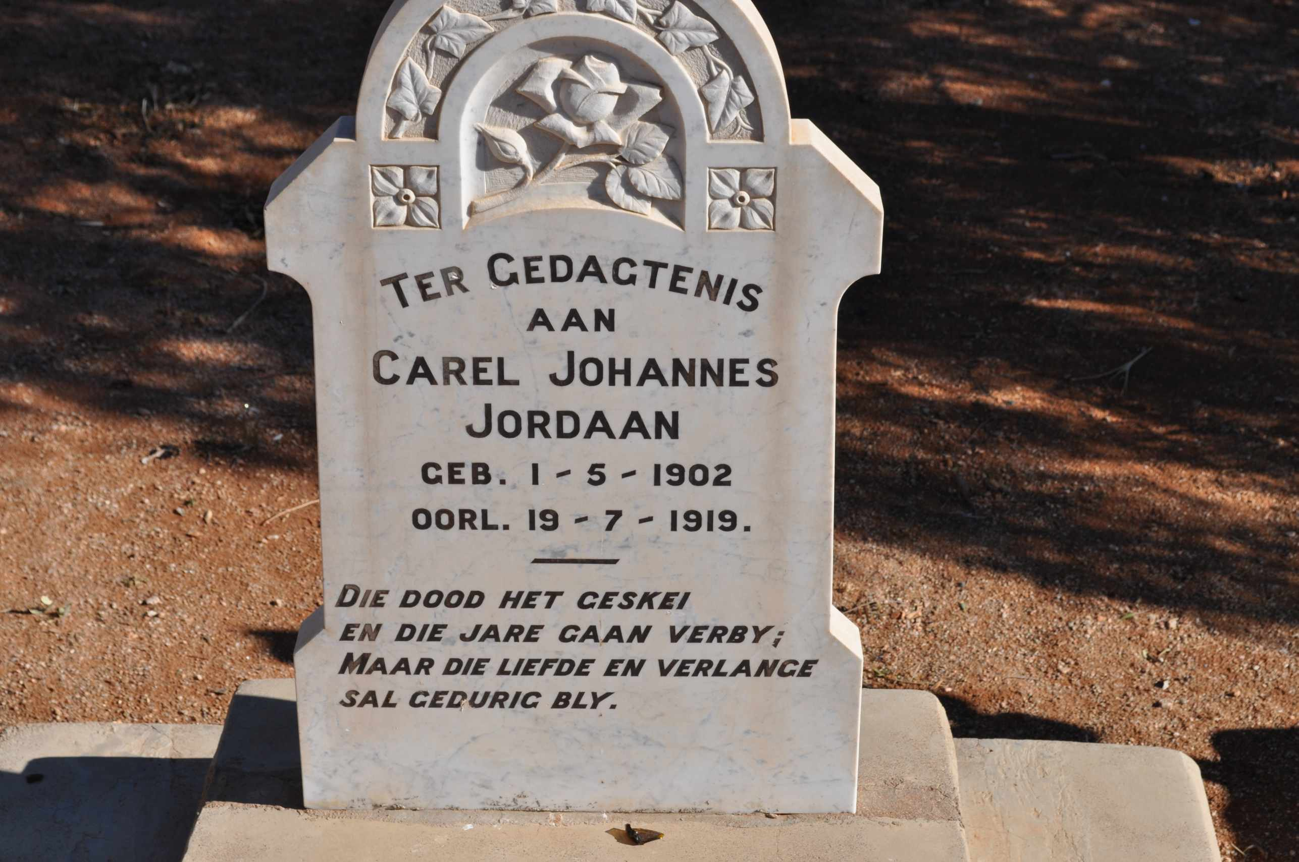 Jordaan, Carel Johannes