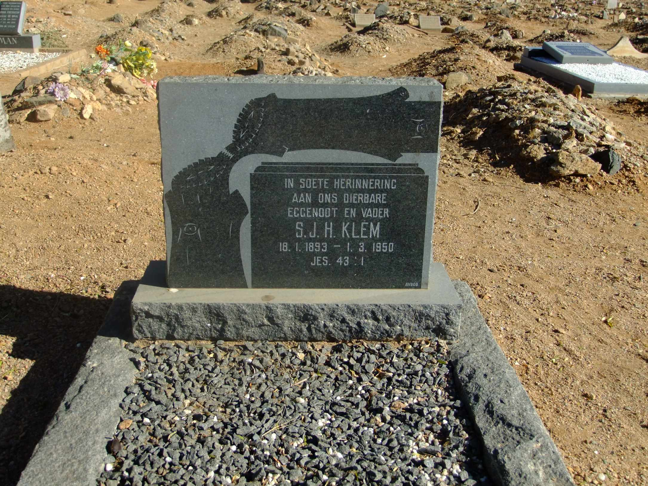Klem, SJH born 18 January 1893 died 01 March 1950