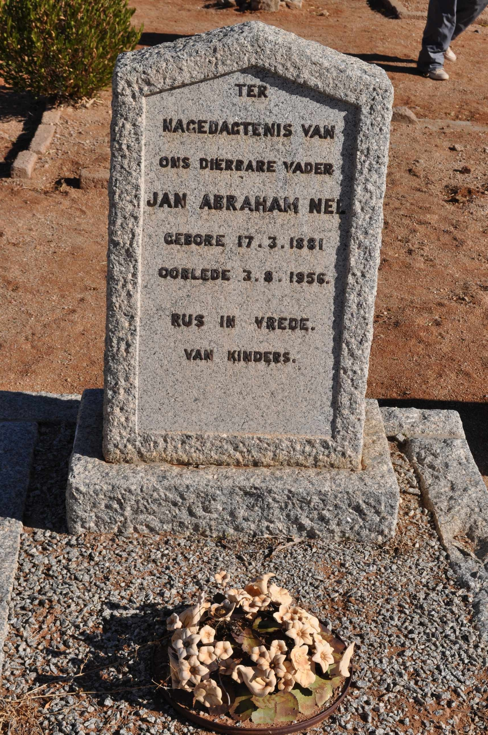 Nel, Jan Abraham born 17 March 1881 died 03 August 1965