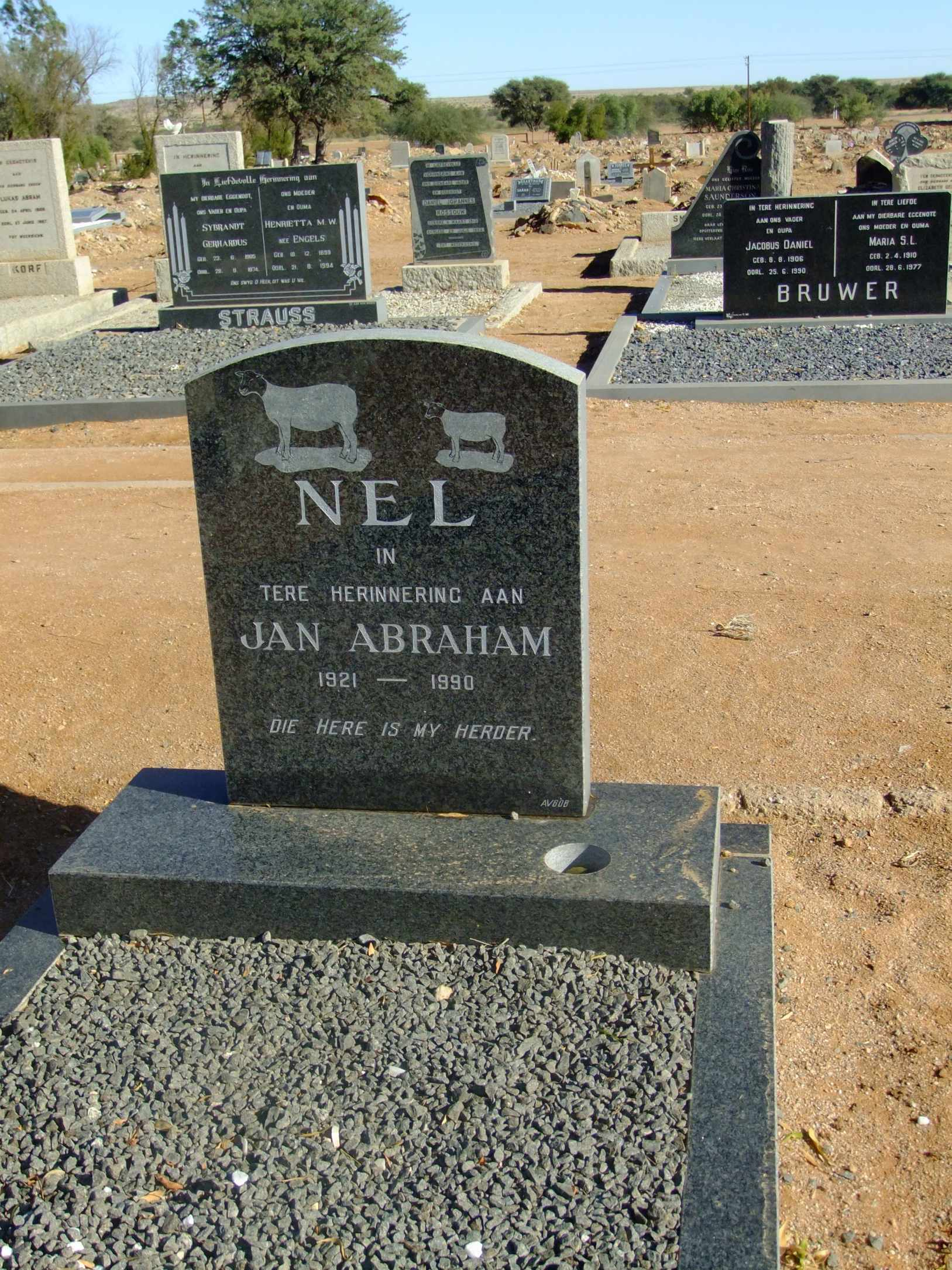 Nel, Jan Abraham born 1921 died 1990