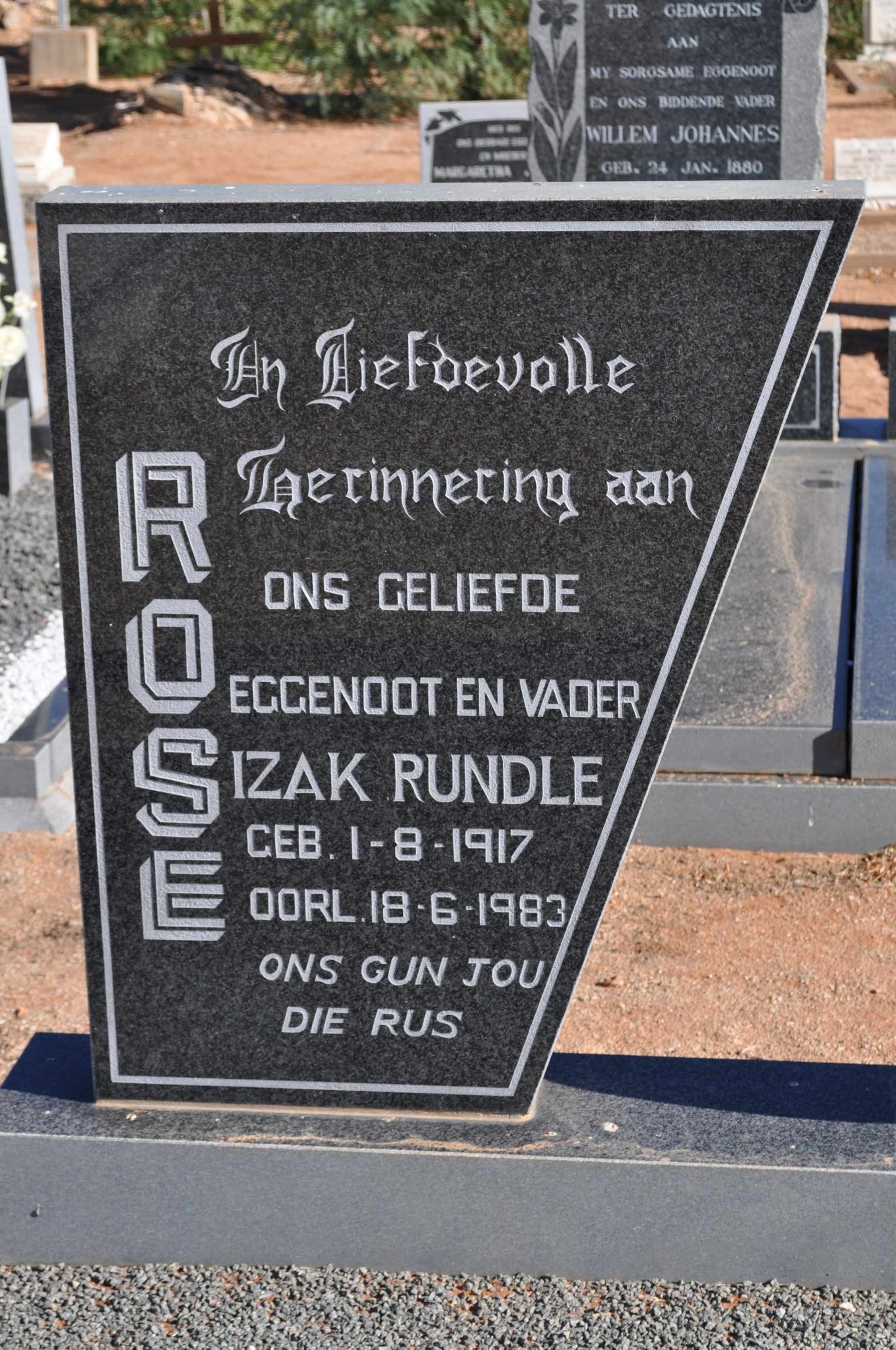 Rose, Izak Rundle