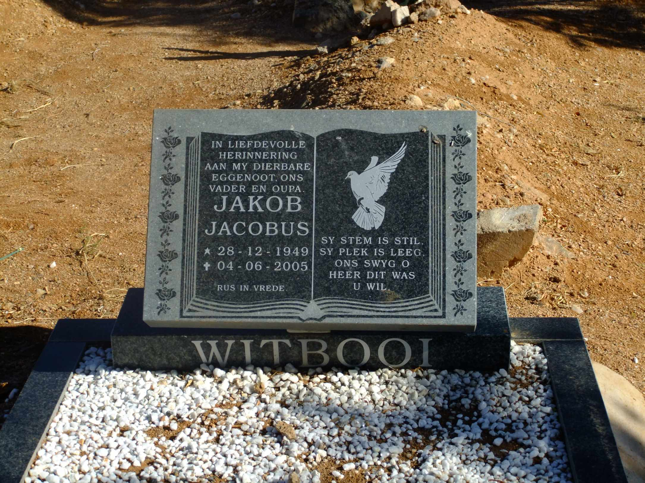 Witbooi, Jakob Jakobus boen 28 December 1949 died 04 June 2005