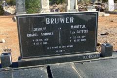 Bruwer, Charlies Charel Andries + Marietjie nee Gutter