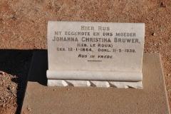 Bruwer, Johanna Christina nee Le Roux
