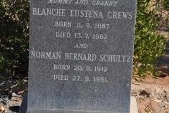 Crews, Blanche Eustena + Schultz, Norman Bernard