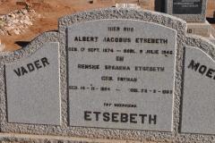 Etsebeth, Albert Jacobus + Renske Susanna nee Synman