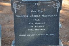 Faul, Francina Jacoba Magdalena nee Myburgh