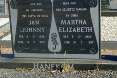 Hanekom, Jan + Martha Elizabeth
