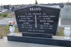 Brand, Frederick Gideon Jacobus + Hester Sophia Jacoba