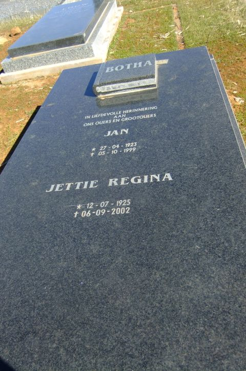 Botha, Jan born 27 April 1923 died 95 October 1999