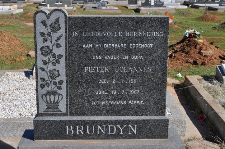 Brundryn, Pieter Johannes born 21 January 1911 died 19 July 1967