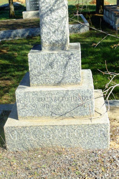 Hindle, Helen Elizabeth born 25 August 190 died 03 1915