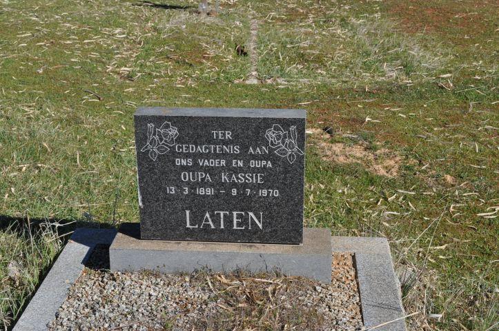 Laten, Oupa Kassie born 13 March 1891 died 09 July 1970