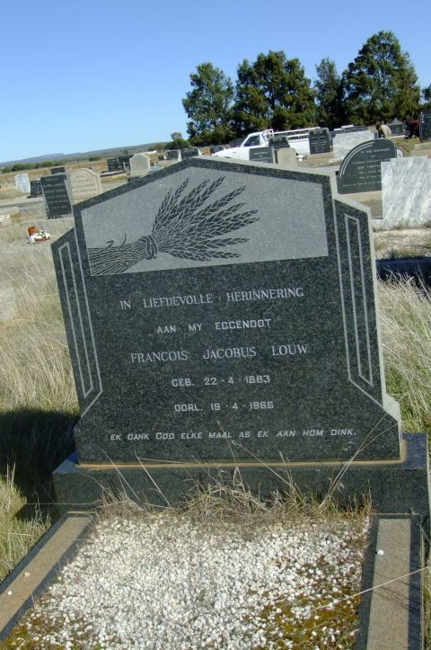 Louw, Francois Jacobus born 22 April 1883 died 19 April 1966