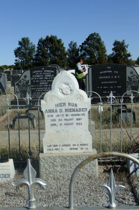 Nienaber, Anna D nee Janse Van Rensburg born 24 March 1887 died 10 March 1933 + Marthinus born 02 January 1878 died 17 September 1962