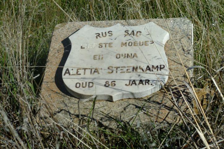 Steenkamp, Aletta aged 86 years