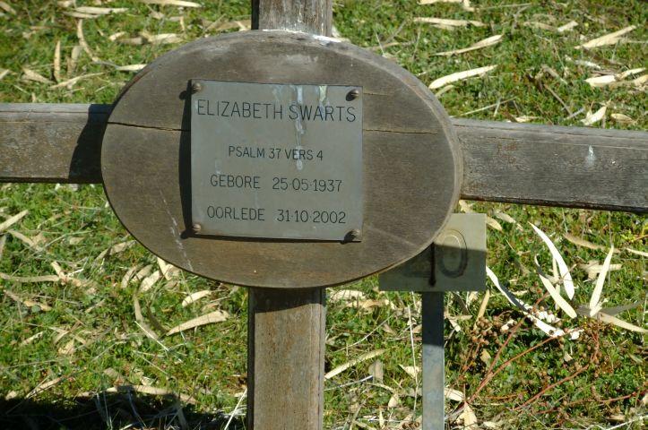 Swartz, Elizabeth born 25 May 1937 died 31 October 2002