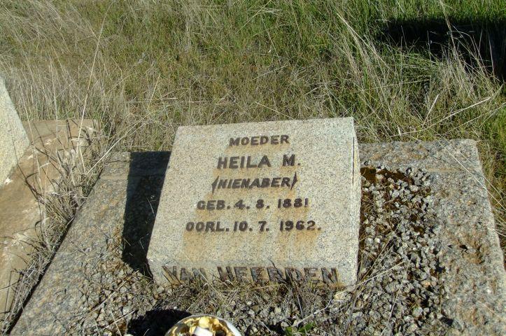 Van Heerden, Heila M nee Nienaber born 14 August 1881 died 10 July 1962
